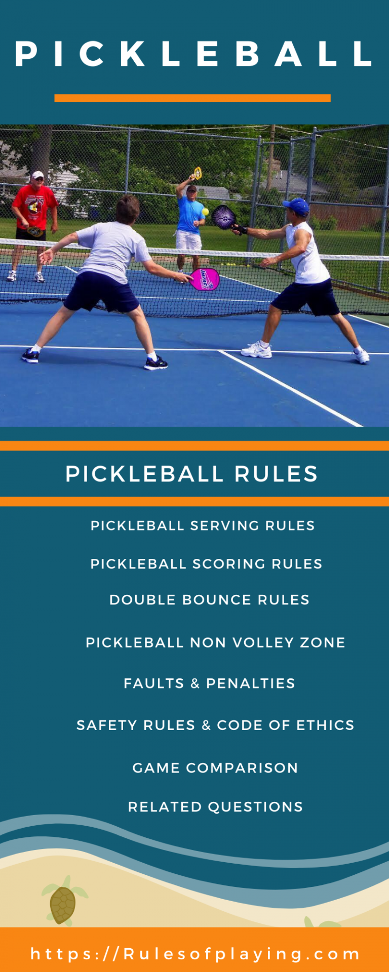 Pickleball Rules [ Scoring, Serving, NVZ, Faults Rules ] Players Guide