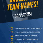 Baseball Team Names [ Fantasy, Funny, Cleveland Updated 2021 ]