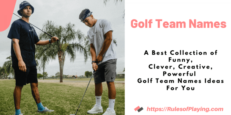 100+ Golf Team Names [ Funny, Creative, Clever Names For Your Team ]
